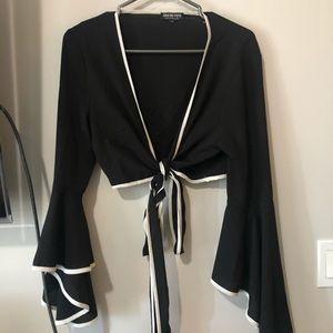 Fashion nova wrap crop top